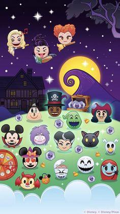 Fondo de pantalla de Disney Emoji Halloween / Spooky / Disney Wallpaper Disney Wallpaper, Halloween, Celebrity Costumes, Disney Crossovers, Phone Wallpapers, Mickey Mouse, Holidays, Christmas Ornaments, Tv