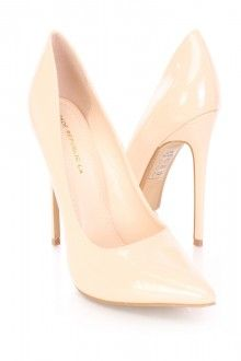 Nude Pointed Toe Single Sole Pump Heels Patent