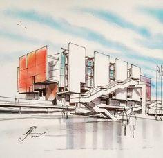 archi sketch #iran architecture student sketch # rendering