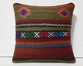 kilim pillows kelim pillow cover boho throw pillow kilim pillow cover crochet pillow cover ethnic fabric burlap pillowcase turkish rug brown