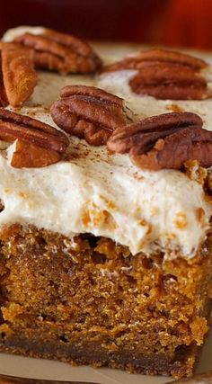 Drunken Pumpkin Gingerbread Snack Cake: a quick recipe for a pumpkin cake with deep gingerbread flavor, maple cinnamon frosting, and an extra zing! Pumpkin Recipes, Cake Recipes, Dessert Recipes, Pumpkin Pumpkin, Pumpkin Carrot Cake Recipe, Gingerbread Cake, Pumpkin Gingerbread Recipe, Gingerbread Houses, Salty Cake