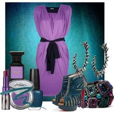 """""""34/50: Purple + Blue"""" by eiluned on Polyvore"""
