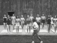 Joseph Pilates Matt Class at Jacob's Pillow.  #pilates #history #video