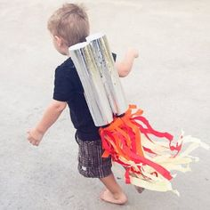 Blast off! This Rocket Blaster Jet Pack is a stellar idea for recycled kids #crafts and homemade #toys for the aspiring astronomer or astronaut.