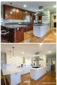 Before and After Photos- Painted Cabinets | DIY and crafts | Pinterest | Photo paint & Before and After Photos- Painted Cabinets | DIY and crafts ...
