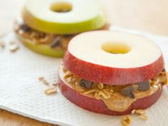 Apple Sandwiches | Ten Favorite Fall Theme Apple Activities for the Whole Family - Apple crafts, recipes, games and art projects