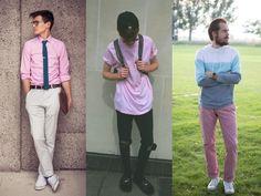 A cor do verão 2015 -  Looks masculino com cor rosa