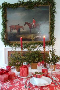 OK--this might be more 'country manor' Christmas, but I don't have a board for that.
