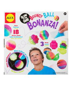 Look at this Glow-In-The-Dark Bouncy Ball Bonanza Craft Kit on #zulily today!