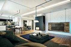 Apartamento Pequeno Decorado e Moderno na Polônia. Pequeno? Será?