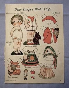 Dolly Dingle Paper Doll in Russia, 1933 Magazine Page