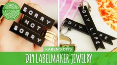 How to make jewelry using a labelmaker!