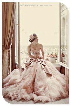 pale pink wedding gowns...statement maker www.annmeyersignatureevents.com