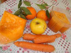 Estratto di arance, carote, zucca e mela. Un concentrato di vit.C, ferro, potassio, fosforo e vit. del gruppo B