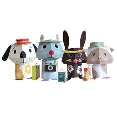 Paper Toys – Jet Set Pets - Créé par Mibo - Editions Coq en pâte.
