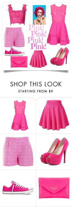 """""""Untitled #25"""" by zejna-husic ❤ liked on Polyvore featuring Converse, Kate Spade and Monique Lhuillier"""