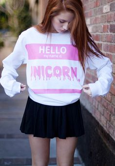 Unicorn Crewneck - Fresh-tops.com love it!!!