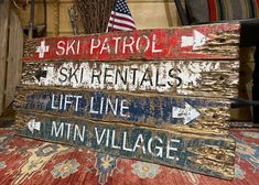 Ski Lodge Decor, Rustic Cabin Decor, Rustic Signs, Rustic Wood, Valentines Day Decor Rustic, Distressed Wood Signs, Cabin Signs, House And Home Magazine, Lodges