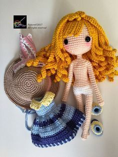 Crochet #doll Pattern Sunni 珊倪