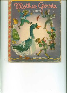 1950 Friendly Book Mother Goose Rhymes by ACMEcollectibles on Etsy, $4.99