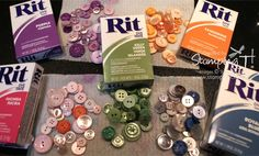 Dyeing Buttons. What!??