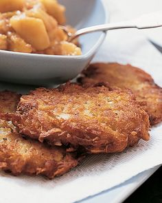 Talia's Favorite Latkes - Martha Stewart Recipes...just a suggestion you might want to use less salt than recommended in this recipe !