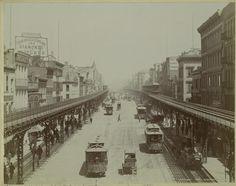 Elevated railroad, Bowery, N.Y. 1895.
