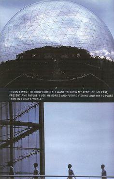 """Raf Simons SS 1999, """"Kinetic Youth"""". Cité des Sciences et de l'Industrie, Paris, 3rd of July 1998."""