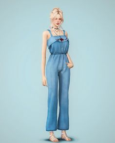 Sims 4 CC's - The Best: F Hyeri jumpsuit by Meeyou world