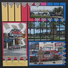 Disney Magic Kingdom Tomorrowland Indy Speedway Poem Scrapbook Die Cut Piece