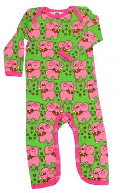 Ook super leuk dit groene boxpakje met roze olifantjes! #KikiBo #Smafolk www.kikibo.nl