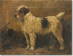 John Emms - Terrier In A Garden