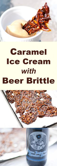 Caramel Ice Cream with Beer Brittle by Life Currents! This ice cream is hardly sweet at all, definitely not for kids, and I'm very happy with the low number of ingredients… sugar, milk, and eggs (that's it!)… how amazing when things are so simple. And, that beer brittle, AMAZING! with coffee notes and a dark roasty flavor and color that compliments the ice cream.