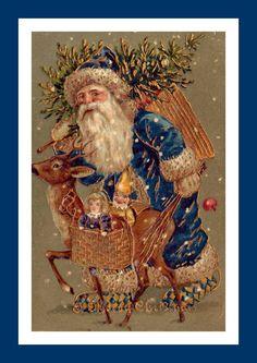 Blue Santa & Roe Deer