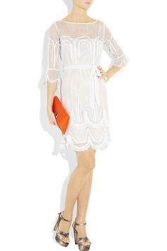 ALICE BY TEMPERLEY  Emerald embroidered mesh dress  $545