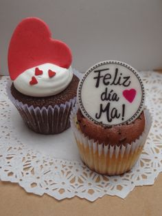 dia de la madre Mothers Day Desserts, Mothers Day Cupcakes, Valentines Day Cakes, Fondant Cupcakes, Cupcake Cakes, Cop Cake, Cake Boss, Cupcake Cake Designs, Cookie Designs