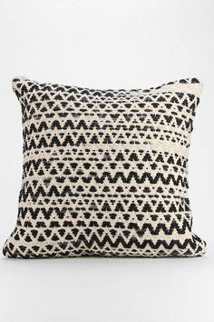 Textured Diamond-Stripe Pillow - Urban Outfitters