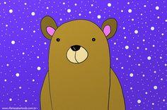 Um urso fofo (sim, praticamente só isso, mais dois outros desenhos aleatórios) – Café e Gatos