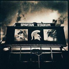 Awesome photograph of Spartan Stadium! #Michigan #MSU #Football