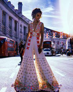 Ivory Floral Embroidered Bridal Jumpsuit