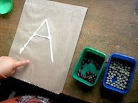 Hands on letter learning, ya'll