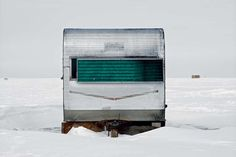 Richard Johnson Captures the Beauty of Canada's Colorful Ice Fishing Huts #inspiration #photography