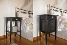 Variera panels on a Hemnes nightstand - IKEA Hackers - IKEA Hackers