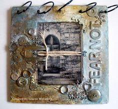 Altered Book by Louise Williams using Darkroom Door 'Little Door' Photo Stamp