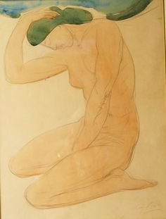 Auguste Rodin: Nudes (c.1900-1910) Graphite and Watercolor on paper