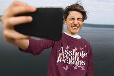 Asshole With Feeling Long Sleeve Best Asshole Shirt / Asshole | Etsy