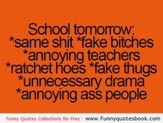 Funny Quotes about School days