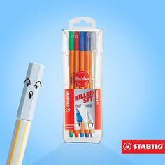 Errou? A Killerset te salva! Ela é branca e apaga as canetas desse estojo que nem mágica.