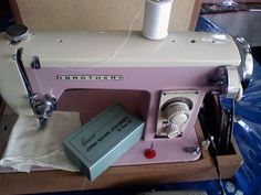 Brother 220 lavender pink sewing machine.  Circa 1962