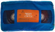 A NIGHT ON THE COUCH VHS PILLOW - Sourpuss Clothing